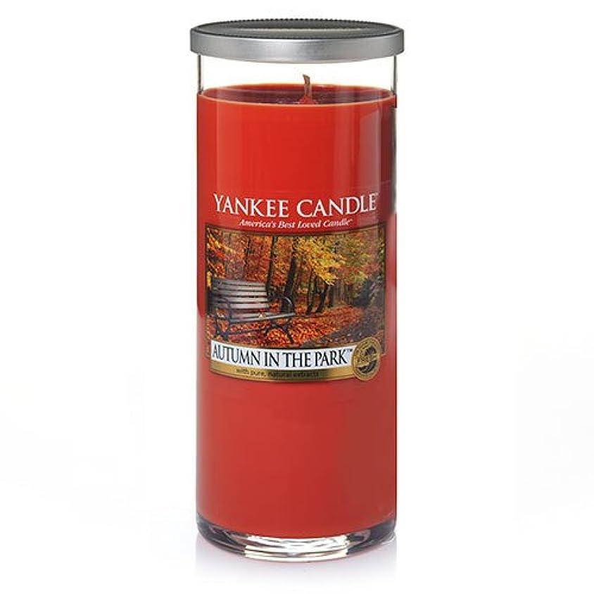 喪うんざり切り刻むYankee Candle Autumn In The Park Large Perfect Pillar Candle、新鮮な香り