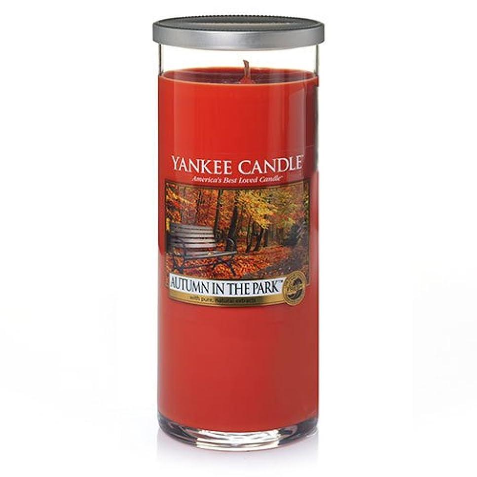 どんよりした戦士窒素Yankee Candle Autumn In The Park Large Perfect Pillar Candle、新鮮な香り