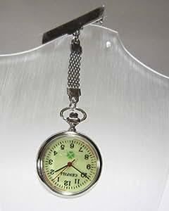 ナースウォッチ 見やすい逆さ文字盤 ホルダーウォッチ 男女兼用 シンプルな薄型懐中時計