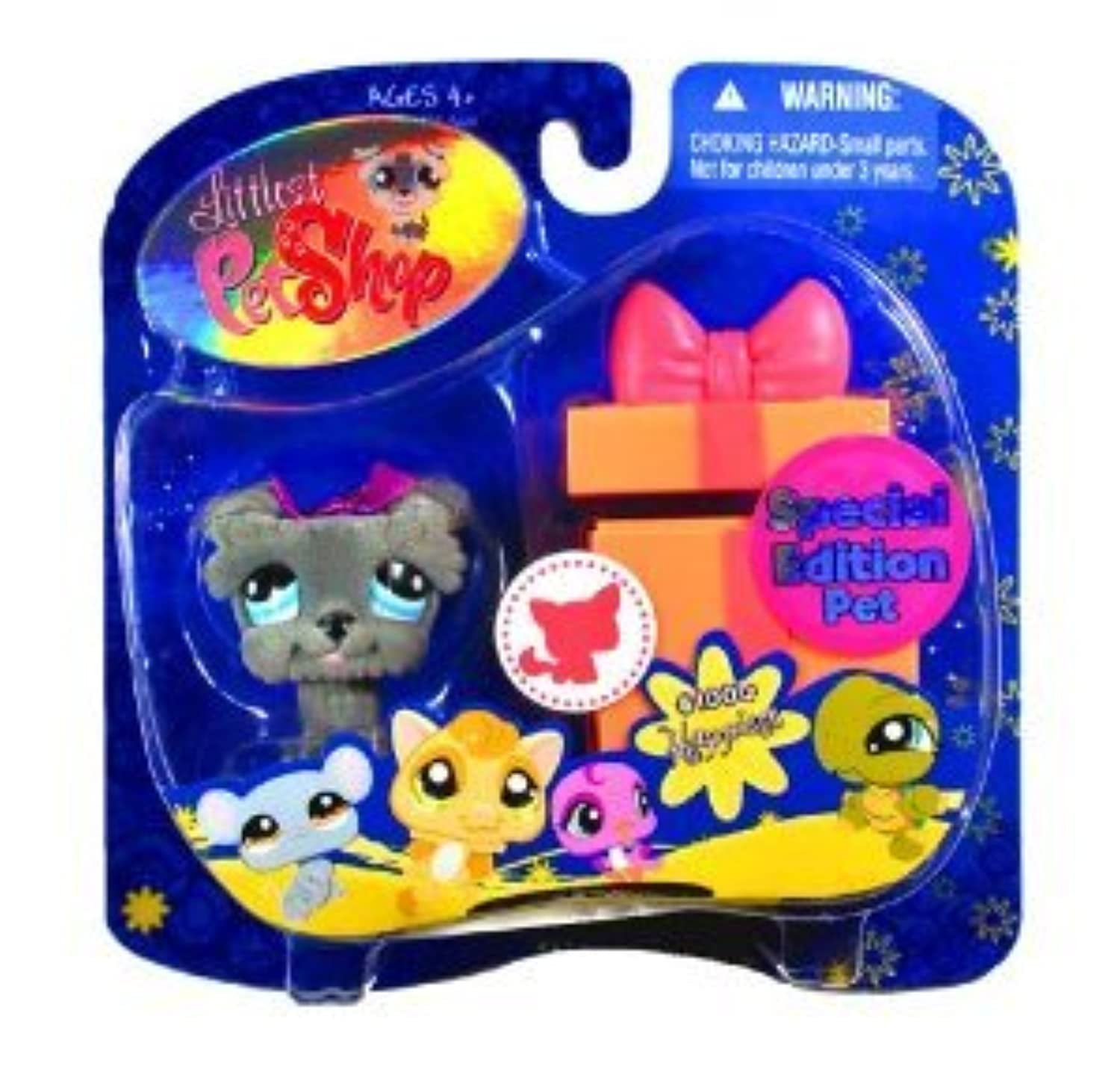 Littlest Pet Shop (リトルペットショップ) Special Edition Fuzzy Grey Schnauzer with Bow(並行輸入)