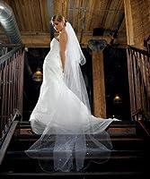 2 Tier White Standard Tulle Veil Floor Length by Weddingstar Inc. [並行輸入品]
