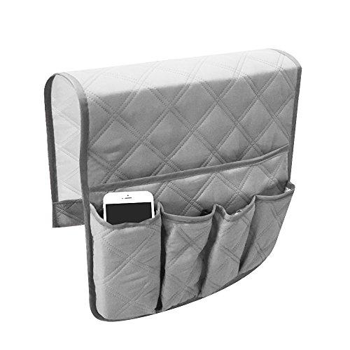 小物入れ ソファ ソファー掛け袋 収納ポケット 雑貨整理 便利 多機能 四色 スマート サイドポケット (グレー)