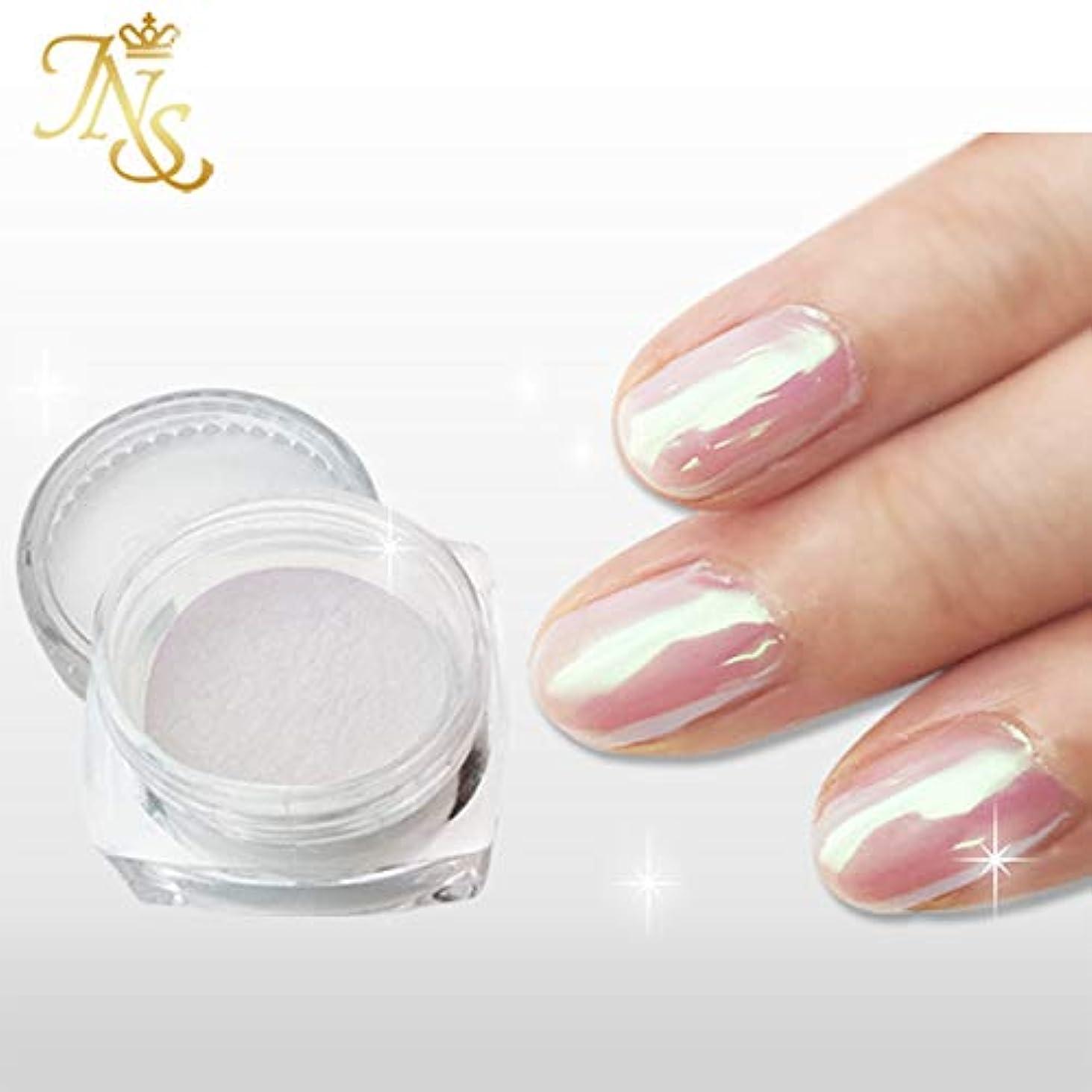雑草効率的設計図ジャパンネイル オーロラシェルパウダー 白真珠