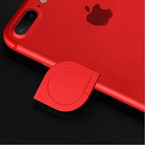DBMART スマホリング ホルダー バンカーリング 360度回転 落下防止 ホールドリング 車載ホルダー対応 iPhone/iPad/iPod/Galaxy/Xperia/android多機種対応 スマートフォン・タブレット金属を指1本で保持・落下防止・スタンド機能 アルミニウム合金 スマホリング スマホ対応 シズク ハンドスピナー 指先ジャイロ ジャイロ 耐荷重約3-5kg 水洗できる (レッド)