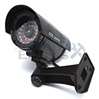ファッション2Bullet赤外線ダミーフェイクセキュリティCCTV監視カメラLEDセンサーライトブラック