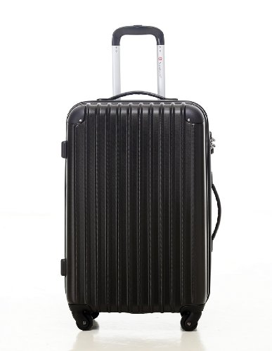 [トラベルハウス]Travelhouse スーツケース [S ブラック] キャリーバッグ TSA ファスナー 4輪