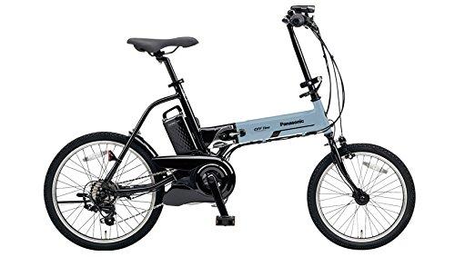 Panasonic(パナソニック) オフタイム 日本製電動アシスト折りたたみ自転車 外装7段変速 BAA(安全・環境基準適合車) BE-ELW072V2 ブルーグレー