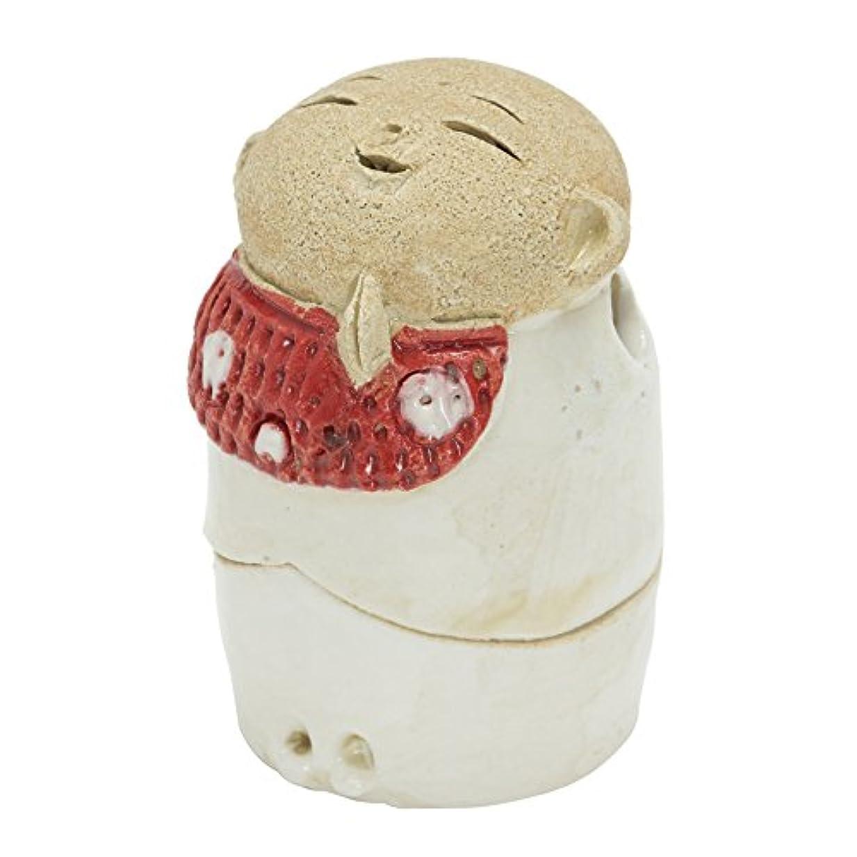 フクロウ一致する記念お地蔵様 香炉シリーズ 前掛 お地蔵様 香炉 2.2寸(わらべ) [H6.5cm] HANDMADE プレゼント ギフト 和食器 かわいい インテリア