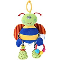ペンダント おもちゃ かわいい 赤ちゃん 掛け ベビーベッド ベビーカー 吊り人形 ガラガラ 幼児 ラトル 動物 ミニ人形 贈り物 誕生日 ギフト
