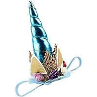 Prettyia 赤ちゃん ベビー ホーン型 ユニーク 可愛い 髪飾り ヘアバンド ヘアアクセサリー 誕生日 6色選べ