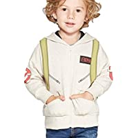 GoshCorps Toddler Boys' Peter Venkman Ghostbusters Photon Pack Hooded Sweatshirt - Beige