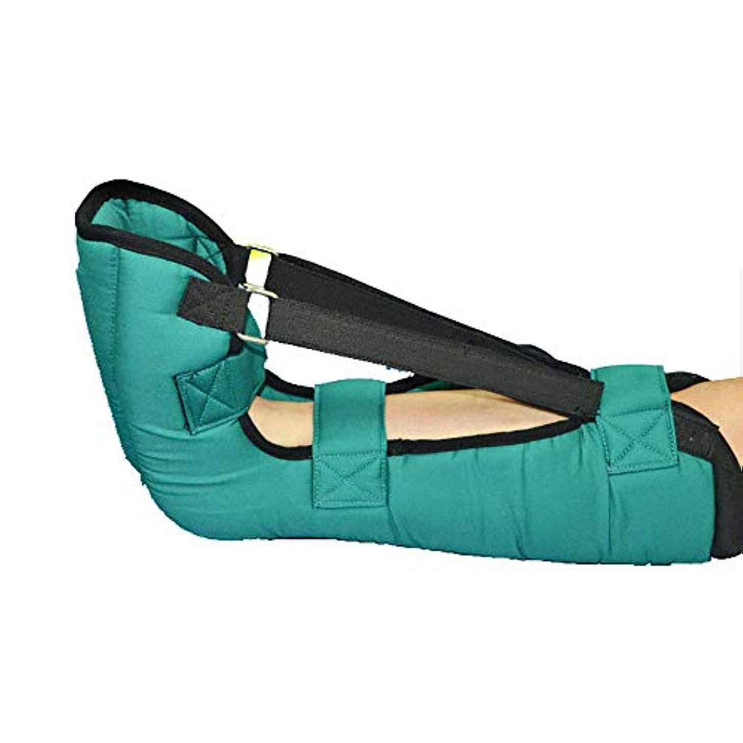 屋内でルールドラッグ1個拡張ヒールプロテクター、褥瘡とかかと潰瘍軽減のための足首ジョイントホルダー、グリーン