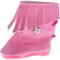 Lovoski 18インチ 人形 ドール アクセサリー ファッション ブーツ 靴 シューズ - ピンク