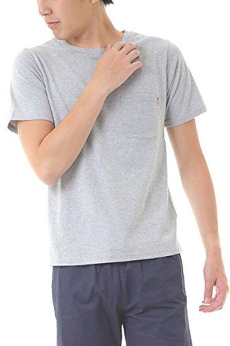 MATTHEWBROWNEETシャツメンズ無地半袖ポケットクルーネックティーシャツTeeTシャツアメカジグレーL