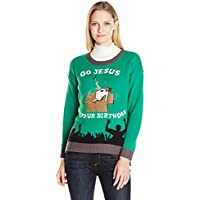 Blizzard Bay Women's Its Your Birthday LED Light-Up Ugly Christmas Sweater