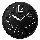 MAG(マグ) 掛け時計 ブラック 直径約25.5cm アナログ 五番街 連続秒針 W-729BK-Z