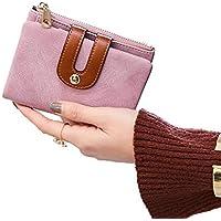 Women's Small Wallet Bifold Soft Leather Thin Short Wallets RFID Blocking Ladies Mini Purse with ID Window