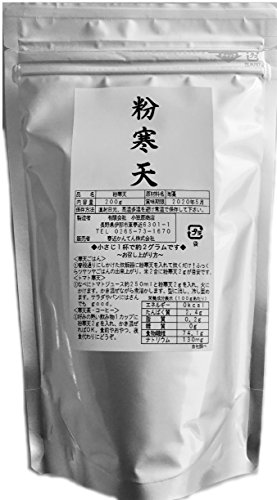 安心の国内生産 粉末寒天 200g 長野県、便利で使いやすいチャック袋、創業100年の信頼の寒天製造元