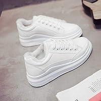 [ノーブランド品] 小 白 女靴 裏起毛 何でも似合う 韓国風 キャンバス ホワイトシューズ 学生 秋と冬
