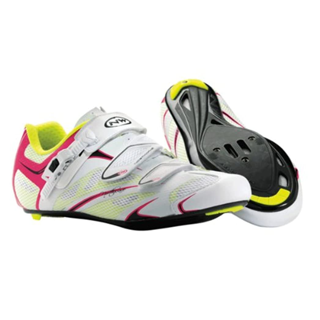 大胆不敵どう?コンテンポラリーNorthwave Starlight SRS Womens Road Cycling Shoes Black Violet White Fuchsia 38 by Northwave