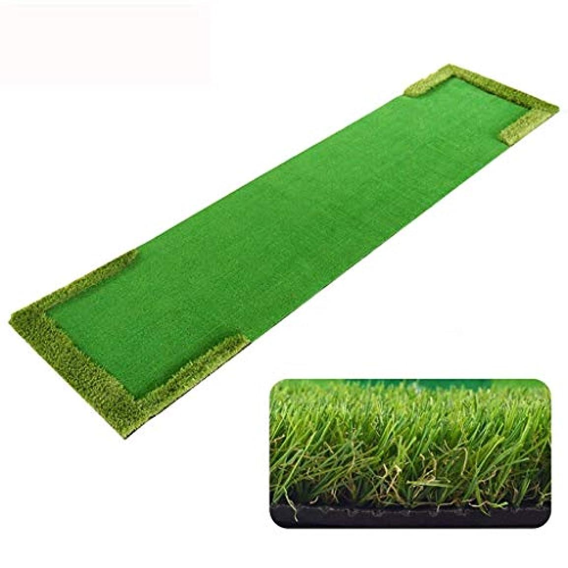 数学ドナウ川陸軍Zyy 屋内 ゴルフパッティング 練習 毛布 - ゴルフ練習 マルチ Lane 設計 緑 ストレージと 運ぶ 便利 サイズ:58x300cm