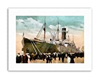 SS Merion Liner Ship Boat Watercolour Picture Canvas Art Print