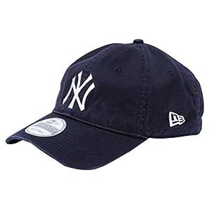 (ニューエラ) NEW ERA 9TWENTY Cloth Strap Washed Cotton ニューヨーク・ヤンキース ネイビー × ホワイト キャップ One Size