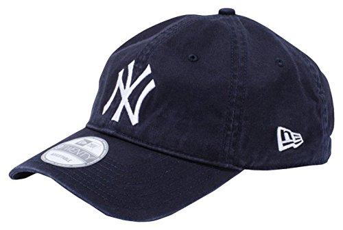 (ニューエラ)NEW ERA 9TWENTY Cloth Strap Washed Cotton ニューヨーク・ヤンキース ネイビー × ホワイト キャップ One Size