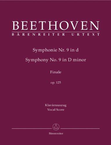 ベートーヴェン: 交響曲 第9番 Op.125より「歓喜の歌」(独語)/ベーレンライター社/ピアノ伴奏付合唱ヴォーカルスコア