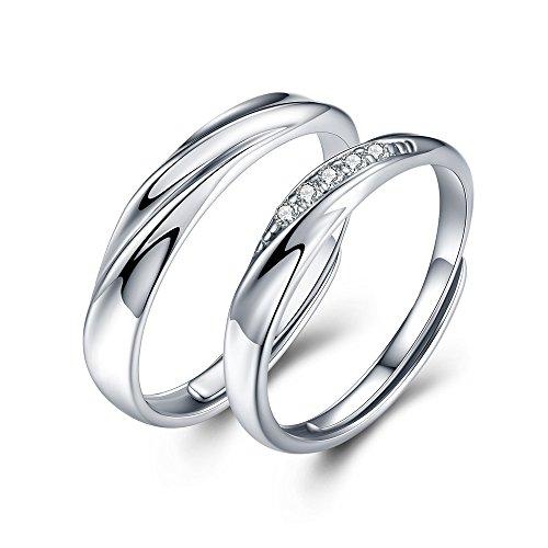 JUDYの秘密<愛の言葉>ペアリング 純銀製指輪 レディースリング メンズリング キラキラ 結婚指輪 婚約指輪 フリーサイズ ( 個別販売可)