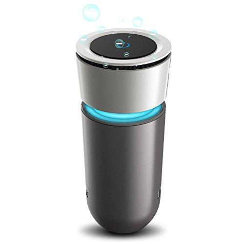 SonRu 車載空気清浄機 車 消臭 イオン発生器 脱臭機 除菌 花粉 PM2.5対策 USBケーブル付きHEPAフィルター 12-24車対応 低騒音 オフィス 寝室 車内 卓上など対応