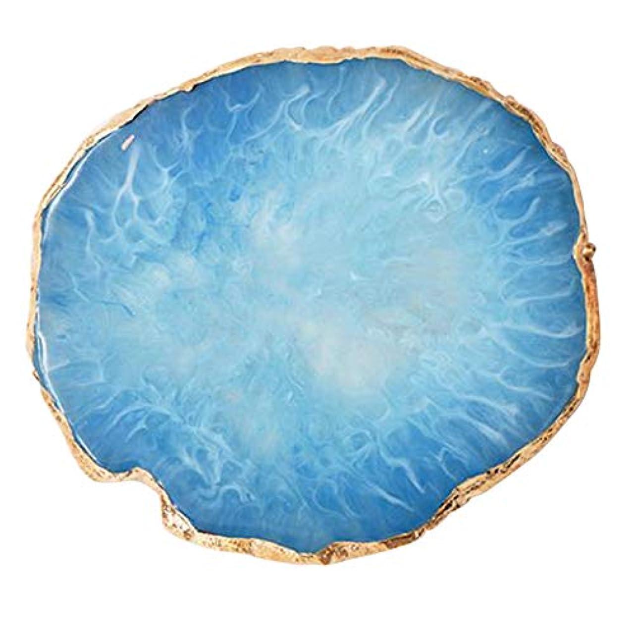 DOMO 樹脂模造瑪瑙 ネイルアートカラーパレット ネイルアート展示板 写真の小道具 マニキュアツール ブルー