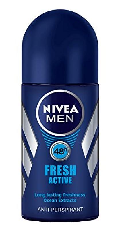 イタリアのおそらく何よりもNivea Fresh Active Anti-perspirant Deodorant Roll On for Men 50ml - ニベア新鮮なアクティブ制汗剤デオドラントロールオン男性用50ml