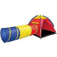 子供の遊びのテントトンネル赤ちゃん遊び家屋内遊園地簡単な折り畳みクロール (Color : Red, Size : 305 * 122 * 94cm)