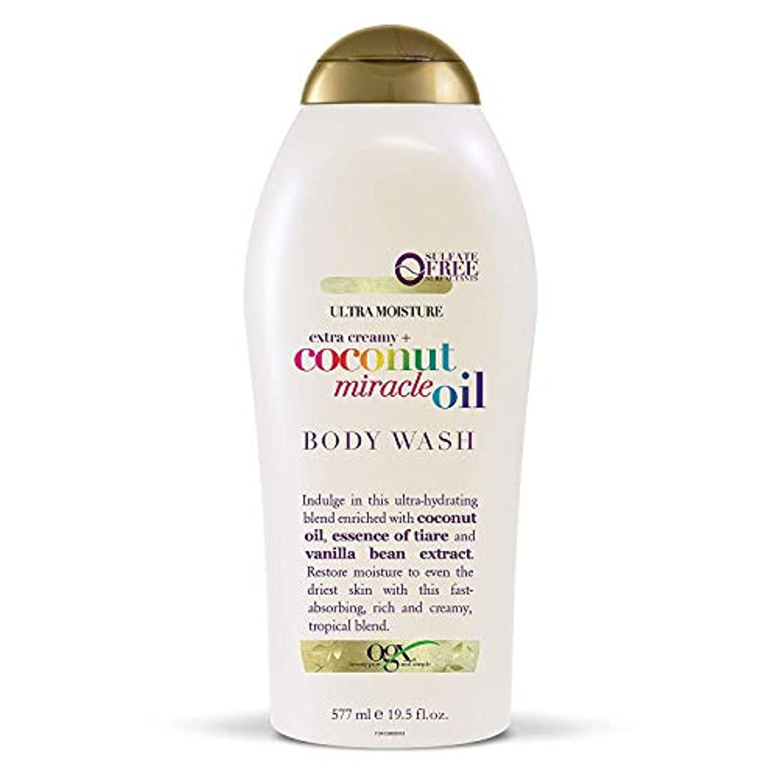 ブースト警戒安西Ogx Body Wash Coconut Miracle Oil Extra Strength 19.5oz OGX ココナッツミラクルオイル エクストラストレングス ボディウォッシュ 577ml [並行輸入品]