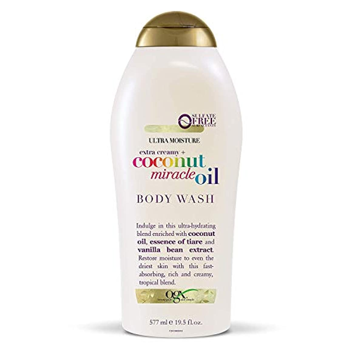 習慣期間鷲Ogx Body Wash Coconut Miracle Oil Extra Strength 19.5oz OGX ココナッツミラクルオイル エクストラストレングス ボディウォッシュ 577ml [並行輸入品]