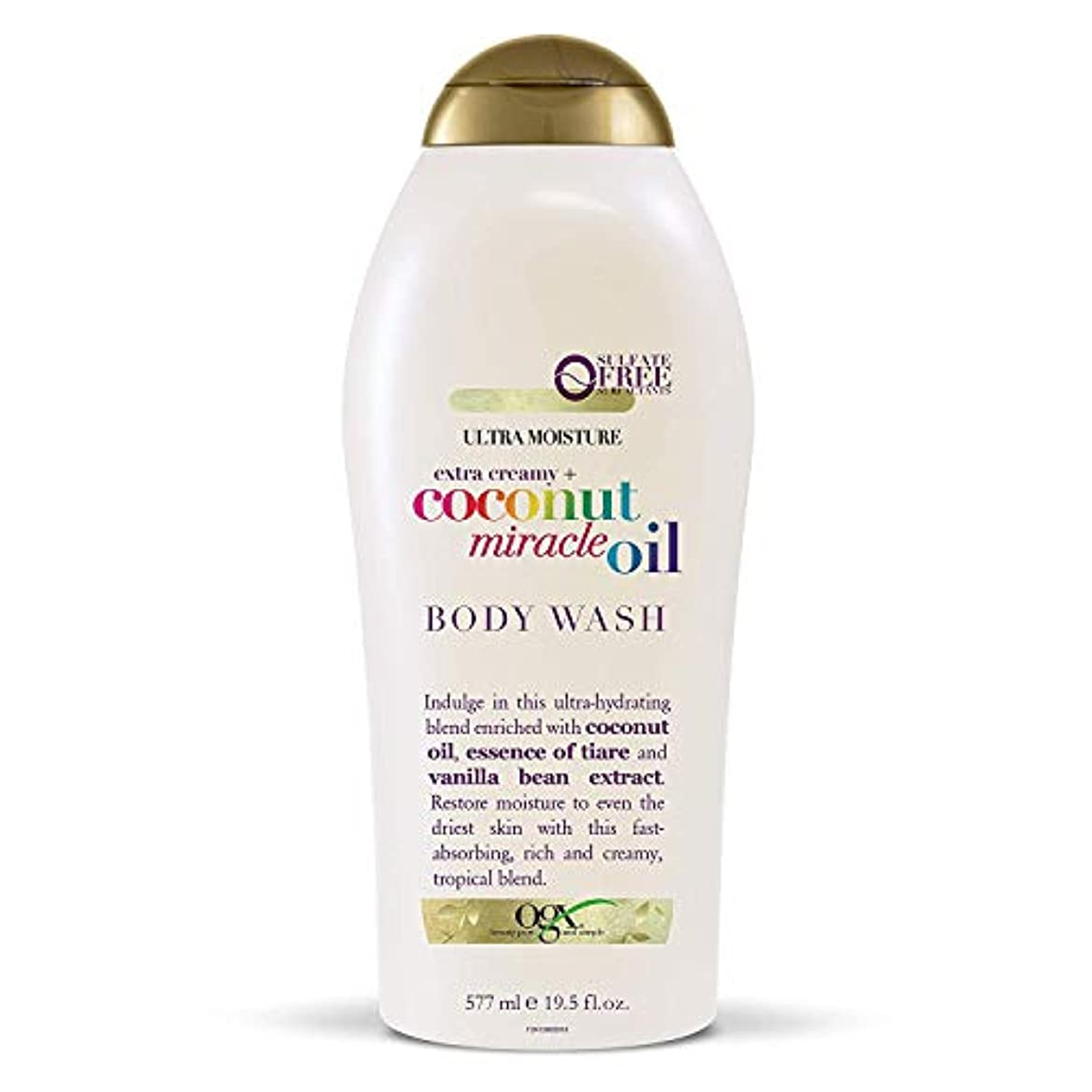 一目ペア適性Ogx Body Wash Coconut Miracle Oil Extra Strength 19.5oz OGX ココナッツミラクルオイル エクストラストレングス ボディウォッシュ 577ml [並行輸入品]