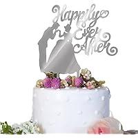 (ハッピーココ) happykoko ケーキトッパー ウエディング ディズニー シンデレラ アクリル ケーキピック プリンセス (シルバー)