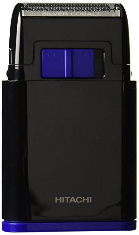 癌フェデレーション移動する日立 メンズシェーバー 乾電池式シェーバー 1枚刃 携帯用 ブラック BM-S10-B