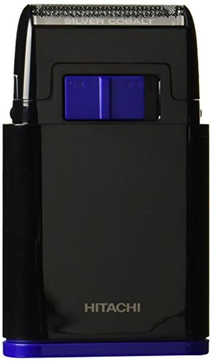 スラム目指す快適日立 メンズシェーバー 乾電池式シェーバー 1枚刃 携帯用 ブラック BM-S10-B