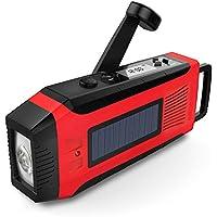 SOMECOOL懐中電灯 LEDラジオライト手回し充電 携帯充電器 iPhone Android 全スマホ充電対応可能 単4電池&内蔵電池2000mAh対応防災セット 防災グッズ 地震・震災・津波・停電 緊急対策 (赤色)