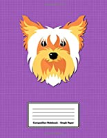 """Composition Notebook - Graph Paper: Purple Yorkshire Terrier 