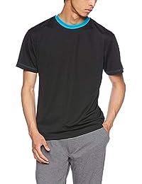 (ユナイテッドアスレ)UnitedAthle 4.1オンス ドライ アスレチック Tシャツ 590001 [メンズ] ブラック/ターコイズブルー XL