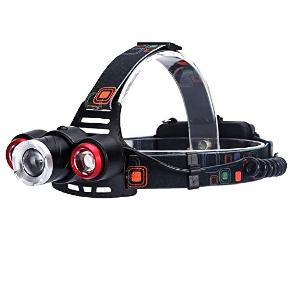 浪費再集計キャリアヘッドランプLED釣りライトグレアリチウムバッテリークライミング3キャンプT6照明キャンプアドベンチャー探査ヘッドライト
