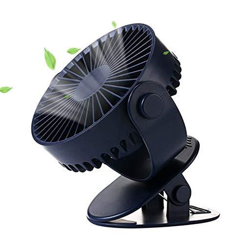 【2019年最新版】卓上扇風機 USB扇風機 クリップ ミニ扇風機 充電式 usbファン 小型 静音 ファン 6時間連続使用 風量3段階調節 360度角度調整 タイマー機能 4枚羽根 断続モード 2つ送風モード 熱中症対策 オフィス&アウトドア&キャンプ 涼しいグッズ クリップ&卓上兼用 車用扇風機 (ネイビー)