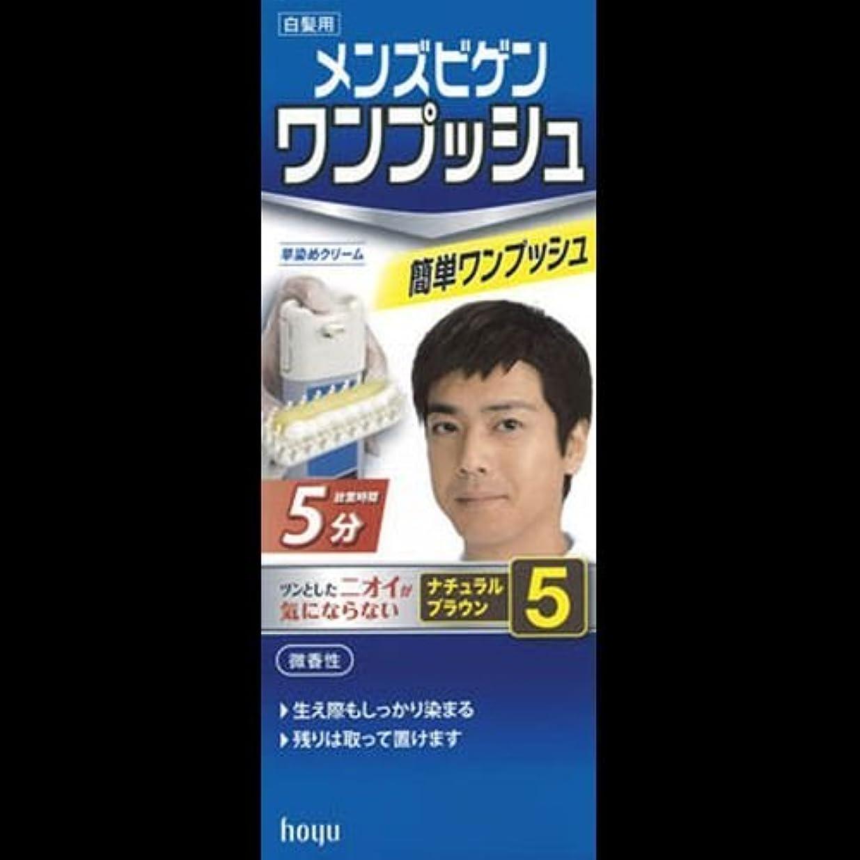 メンズビゲン ワンプッシュ ナチュラルブラウン 5(40g+40g) ×2セット