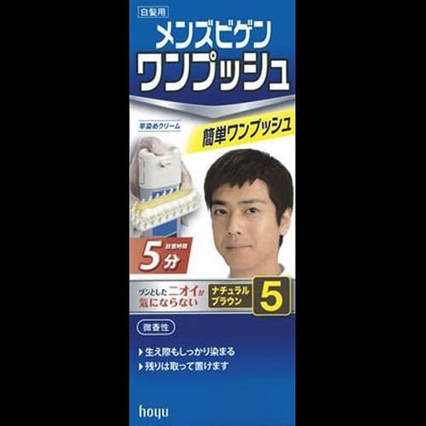 すり租界泣くメンズビゲン ワンプッシュ ナチュラルブラウン 5(40g+40g) ×2セット