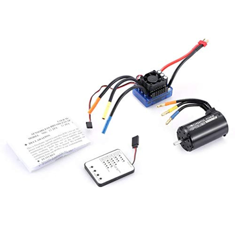 4068 2050KVブラシレスモーター120A ESC LED 1/8 RCカー用プログラミングカード