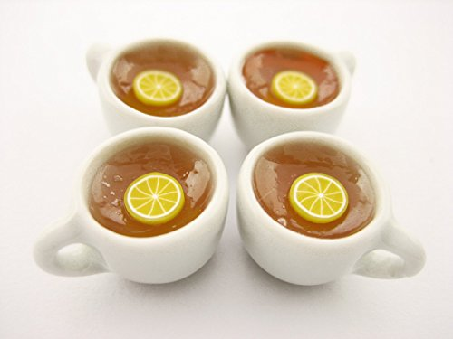 ホットレモンお茶セット20カップドールハウスミニチュアFood Drink Beverage # M 13463