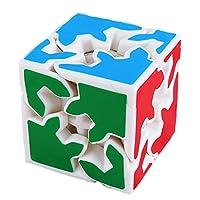 ギア スピードキューブ 3x3 ルービックキューブ Speed Cube競技用 キューブ ス 滑らかな回転 調整可能な立体パズルキューブ,White